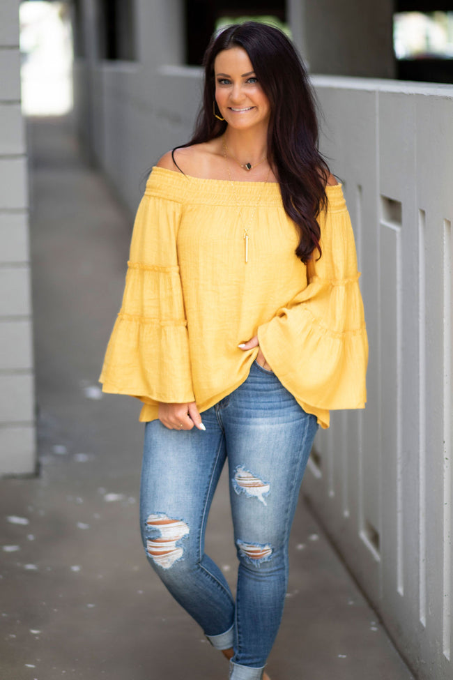 Kortni Smocked Off The Shoulder Top