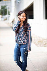 Wrapped Up Stripe Top-FINAL SALE