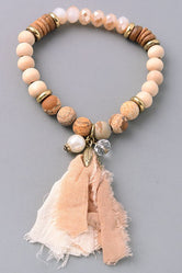 Natural Beauty Stretch Bead Bracelet (Two Colors)