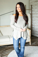 Fold Over Tunic Top