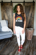 Be Kind Distressed Graphic Tank