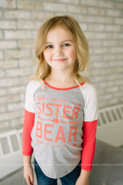 Sister Bear Graphic Top (Girls)