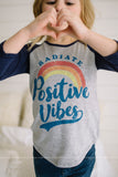 Positive Vibes Graphic Top (Girls/Two Colors)