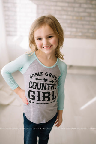 Country Girl Graphic Top (Girls/Two Colors)