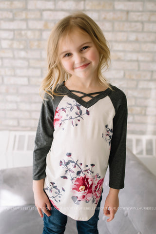Raglan Cross Front Top (Girls)