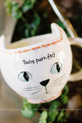 "Cream Cat ""You're Purr-fect"" Mug"