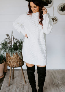 Sweater Weather Mock Neck Dress