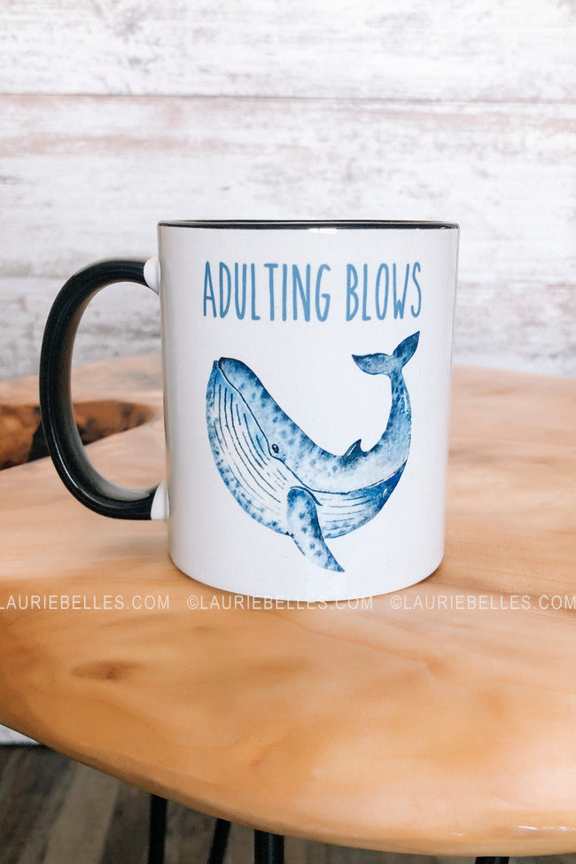 "LB Exclusive ""Adulting Blows"" Mug"