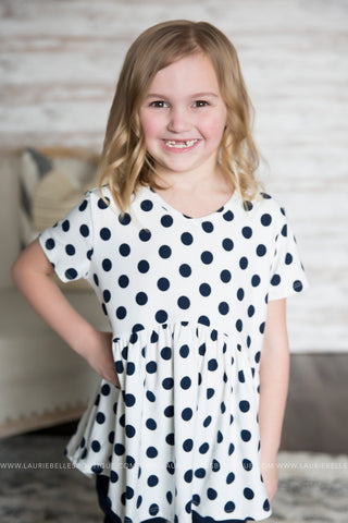 Hi-Low Polka Dot Tee (Girls)