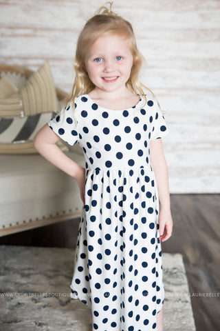 Cross Back Polka Dot Dress (Girls)