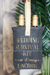 Survival Kit Double Wine Bag
