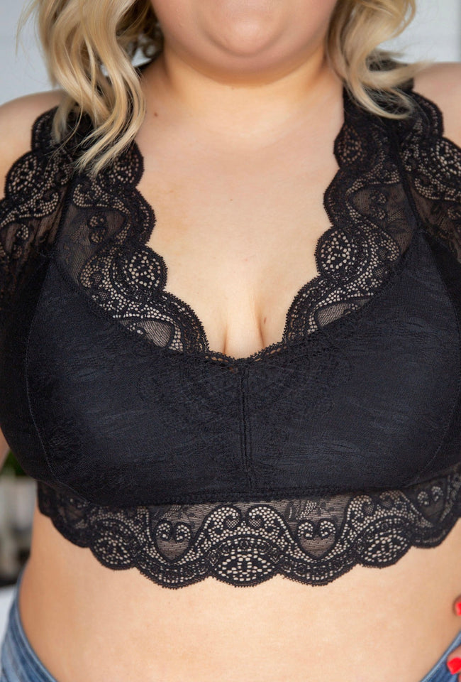 Curvy Verona Padded Lace Bralette - FINAL SALE