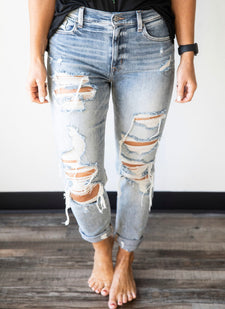 Franck High Rise Distressed Jean