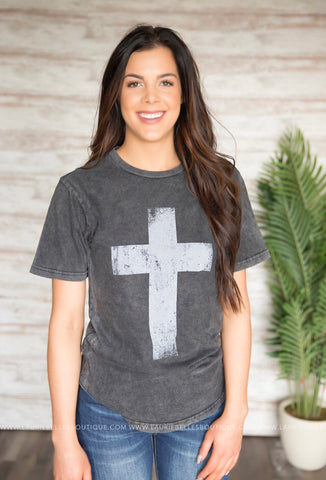 Cross Scoop Bottom Tee
