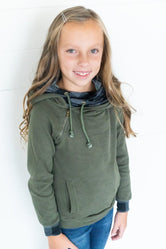 Little LB Evergreen Plaid Double Hoodie