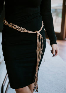 Macrame Self Tie Belt