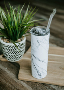 Marble Tall Travel Cup