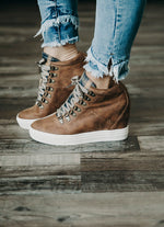 Tibi Not Rated Lace-Up Sneaker Wedge