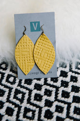 Stitched Leather Earrings