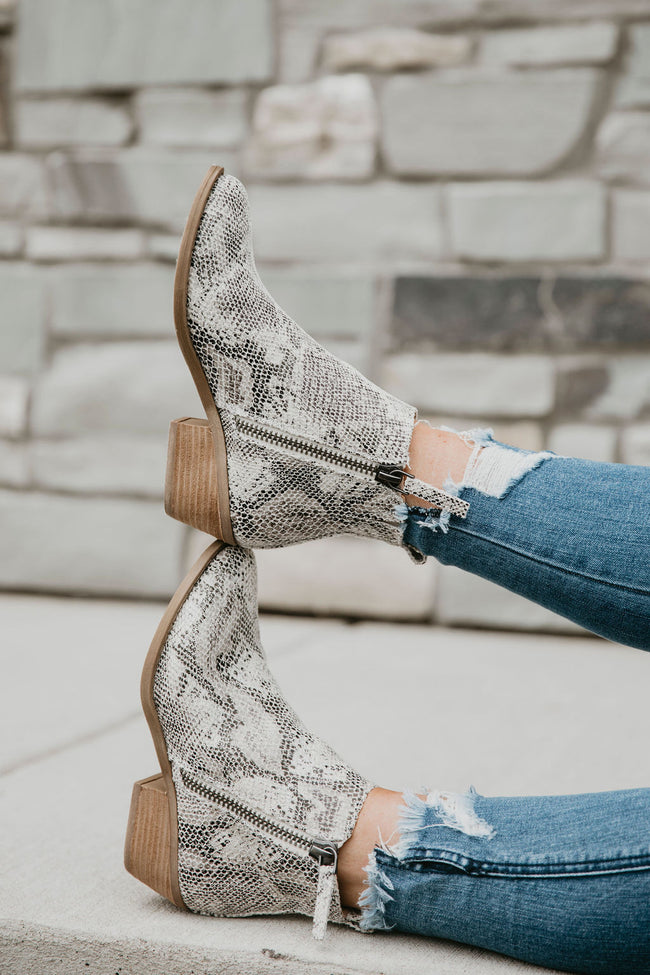 Very G Snakeskin Booties