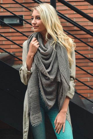Open Weave Blanket Scarf (Several Colors)