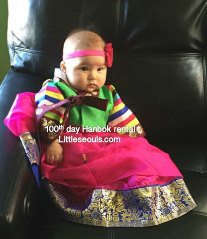 Customer Gallery: 100th Day Girl Traditional hanbok