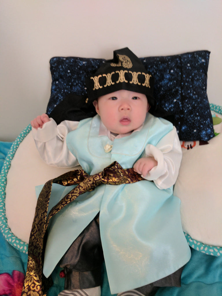 Customer Gallery: Traditional Modern Dolbok Prince Hanbok