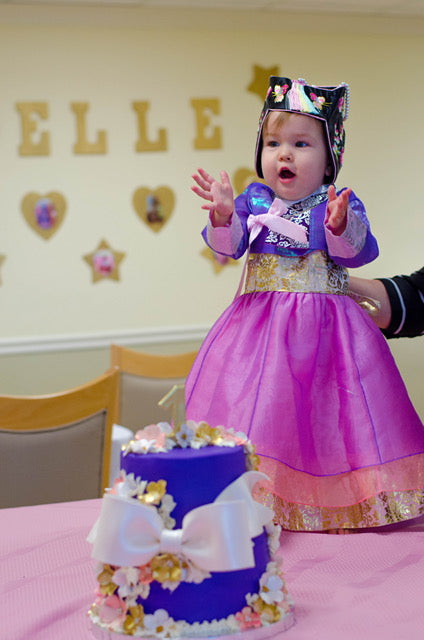 Customer Gallery: 1st Birthday Girl Princess Lavender Hanbok