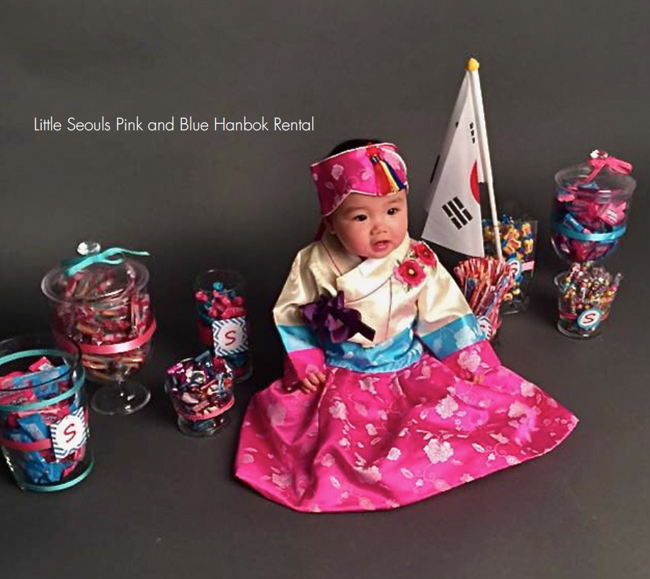 Customer Gallery: Pink and Blue Hanbok