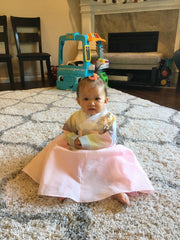 Korean girl baby hanbok first birthday