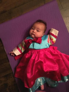 Korean baby 100th day hanbok
