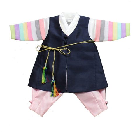 Boy's 100th Day Baek-il Birthday Hanbok (Size 3 to 5 months)