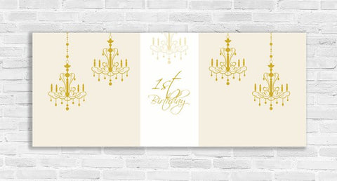 First Birthday Chandelier Backdrop Banner