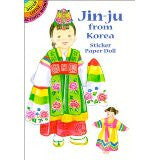Jin Ju from Korea Sticker Paper Doll