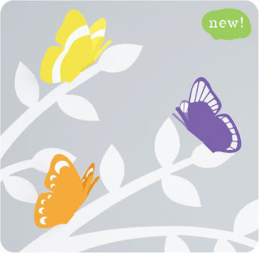 Pre-notched Paper Butterflies - Purple or Orange