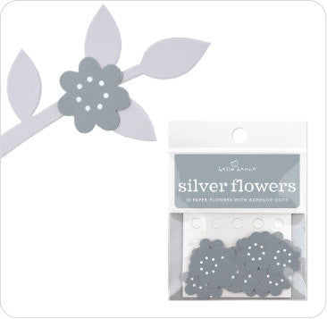 Stick Ons - Silver Flower