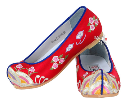 Hanbok Shoes Royal Red (Size 1)