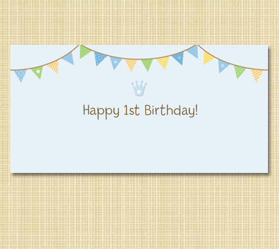 1st Birthday Blue Party Banner Rental