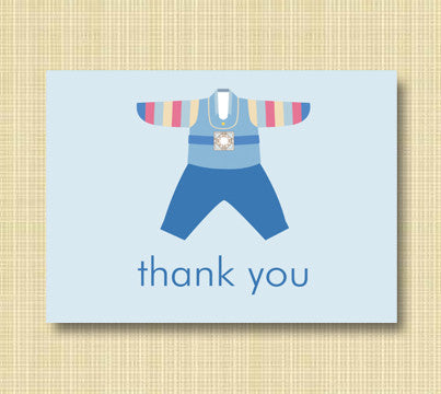 Blue Hanbok Thank You Cards