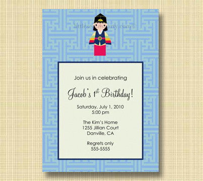 Little Seouls Boy Lattice Invitation
