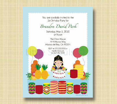 Dol Table Invitation