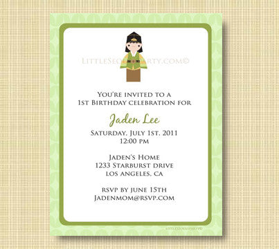 Little Seouls Green Invitation