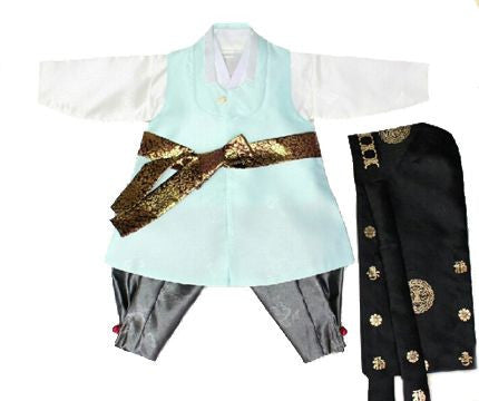 Boy's First Birthday Hanbok Prince Style (Size 1)