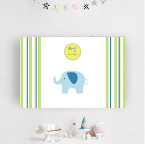 100th Day Elephant Banner