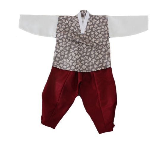 Boy's First Birthday Hanbok Fusion Style (Size 18 months)