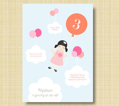 Balloon in the Sky Invitation