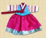 100th Day Korean Baek-il Hanbok for Girl Rental