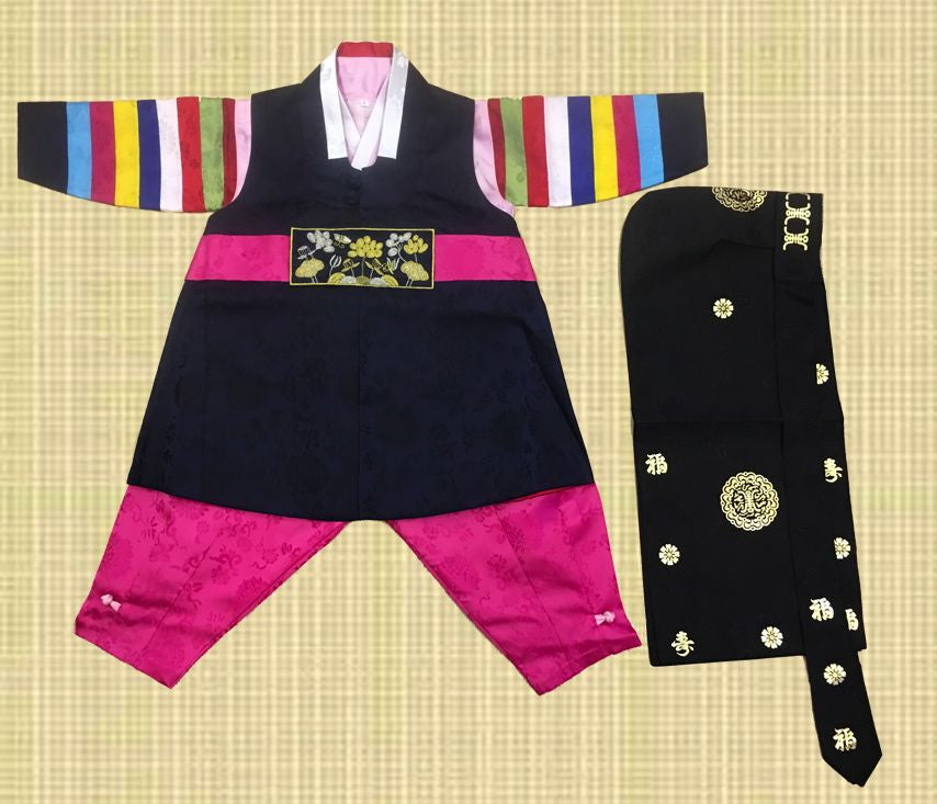 1st Birthday Boy Traditional Dolbok Prince Hanbok Style 4