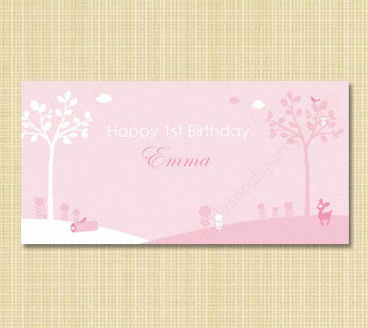 Pink Enchanted Forest Banner