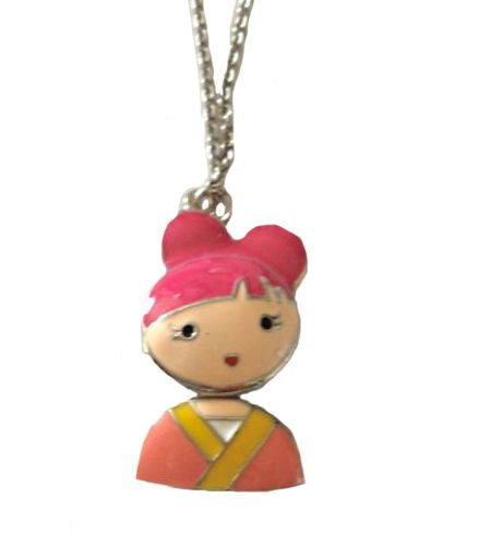 Pendant Necklace with Asian Girl